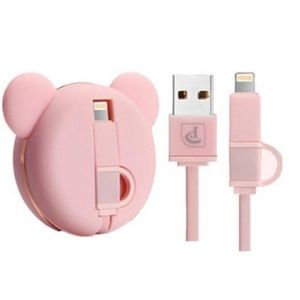 Mouse Ears iPhone Charger Bear Pink Android Phone